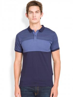 Printed Polo Collar Tshirt