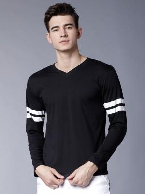 Solid V Neck Tshirt