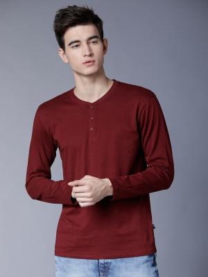 Solid Henley Neck Tshirt