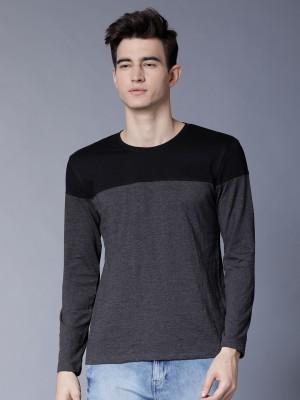 Colourblocked Round Neck Tshirt