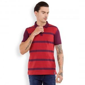 Striped Polo Collar Tshirt