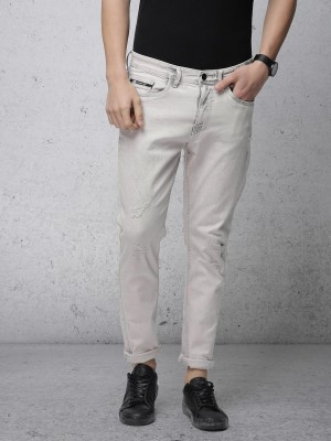 Light Grey Tapered Fit Jeans