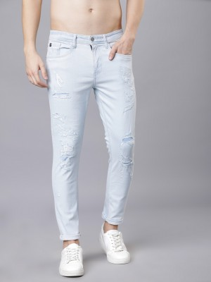 Light Blue Tapered Fit Jeans