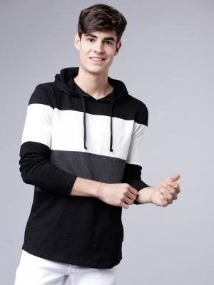 Colourblocked Hooded Tshirt