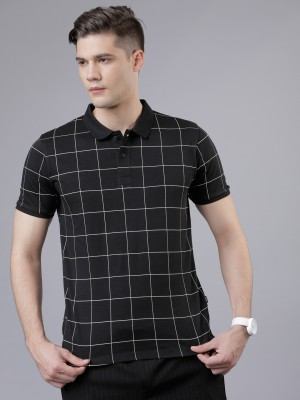 Checked Polo Collar Tshirt