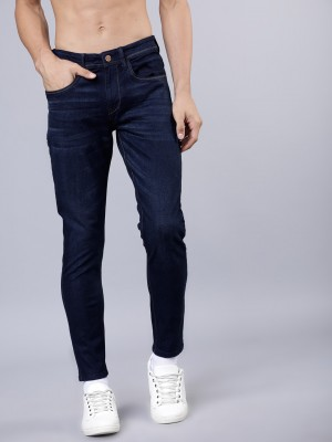 Navy Blue Tapered Fit Jeans
