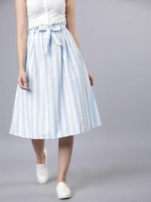 Flared Knee Length Skirt