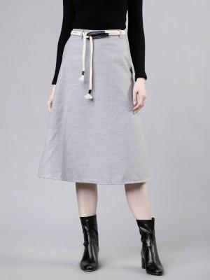 Flared Maxi Skirt