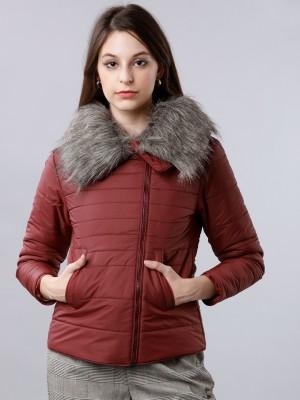 Burgandy Puffer Jacket