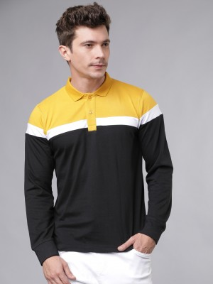 Colourblocked Polo Collar Tshirt