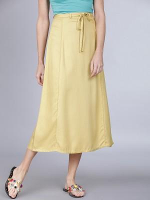 Curved Midi Skirt