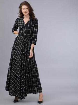 Checked Maxi Dress