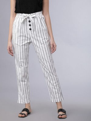 Striped Straight Fit Trousers