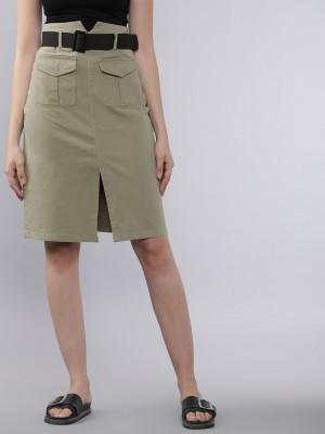 Straight Knee Length Skirt
