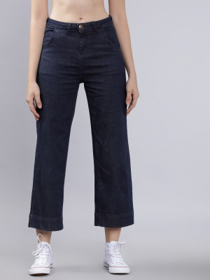 Navy Blue Boot Cut Jeans