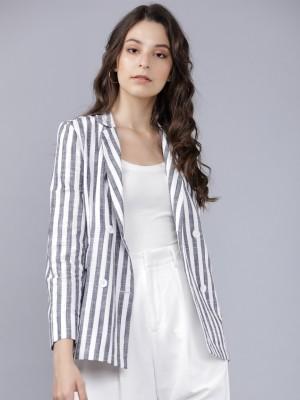 Blue/White Striped Blazer
