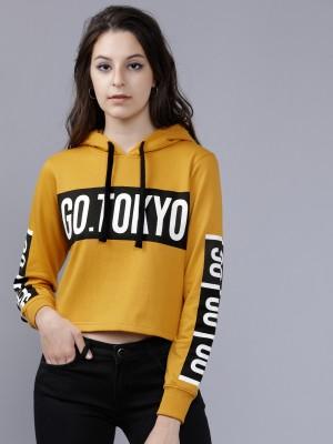 Printed Crop Fit Sweatshirts