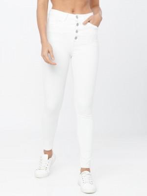 White Slim Fit Jeans