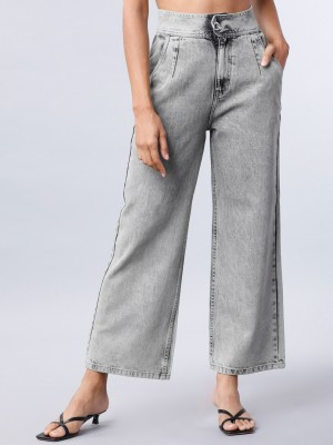 Light Grey Flared Jeans