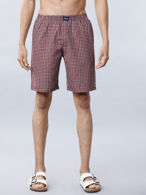 Checked Regular Fit Shorts