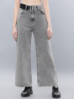Grey Flared Jeans