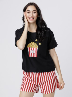 Printed Graphic Lounge Top