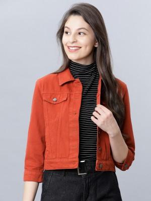 Rust Denim Jacket