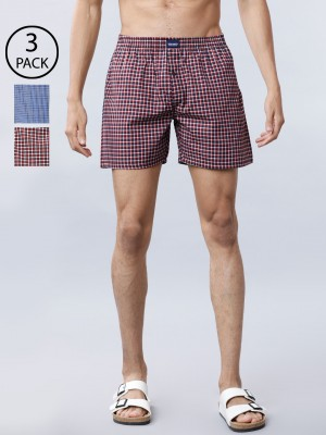 Regular Fit Pack Of 3 Assorted Boxers