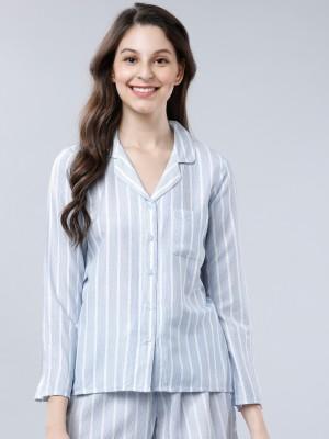 Regular Fit Striped Lounge Shirt