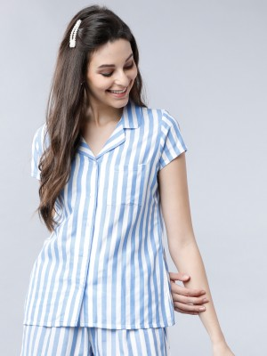 Regular Fit Striped Lounge Shirt