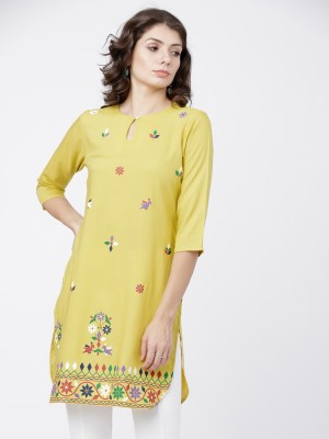 Yellow Straight Tunic
