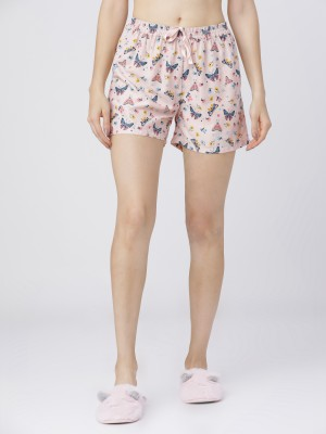 Multicolor Printed Lounge Shorts