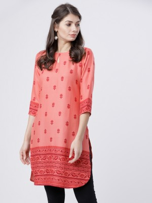 Coral Printed Straight Tunic