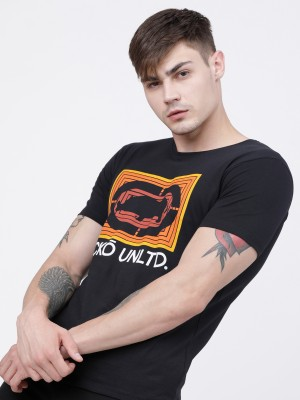 Black Round Neck Short Sleeve Tshirt
