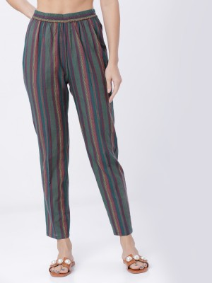 Striped Regular Fit Trousers
