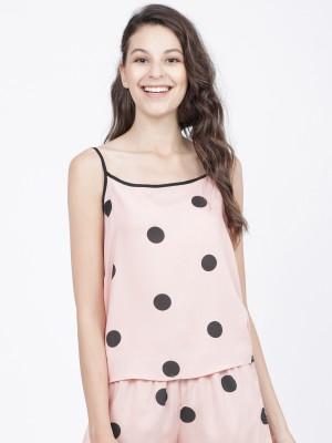 Printed Polka Dots Regular Top