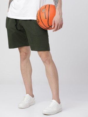 Olive Slim Fit Shorts