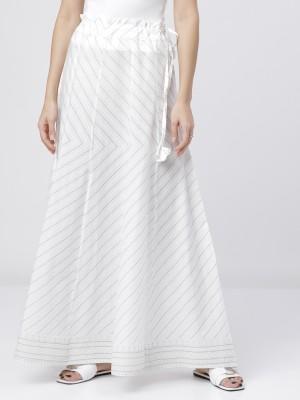 Lime/Off White Printed Skirt