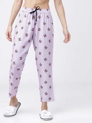 Mauve Black Printed Lounge Pant