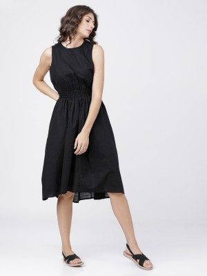 Black Fit And Flared Lace Dress