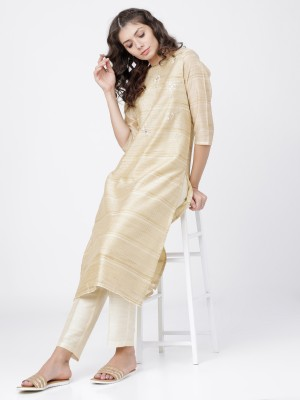 Beige/Cream Straight Kurta