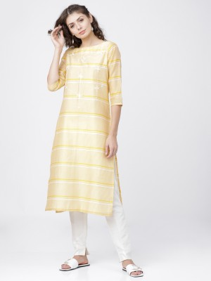 Yellow/Cream Straight Kurta