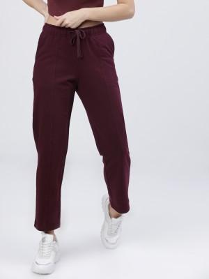 Solid Regular Fit Track Pants