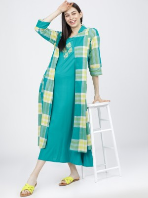 Dyed A-Line Dress