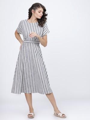 Striped A-Line Dress