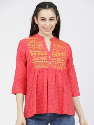 Printed Ethnic Motifs A-Line Top