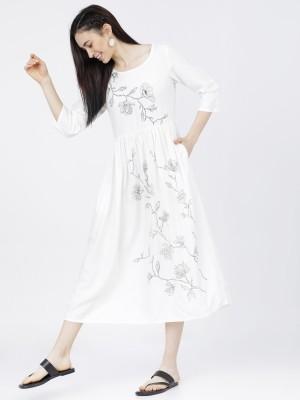 Printed Empire Dress