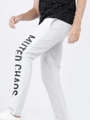Men Typography Slim Fit Track Pant