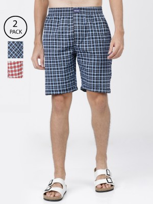Checked Regular Fit Lounge Shorts