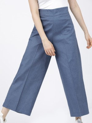 Solid Flared Trousers